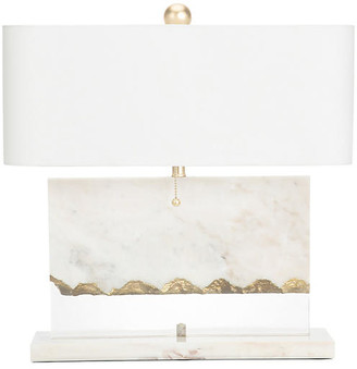 Couture Brentwood Marble Table Lamp - White