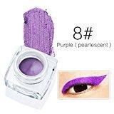 HUBEE 12 Colors Waterproof Long Lasting Eyeliner Gel Cream Matte & Pearlescent