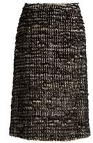 Simone Rocha Textured-tweed skirt