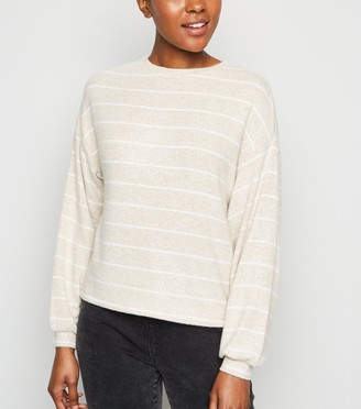 New Look Stripe Brushed Fine Knit Jumper