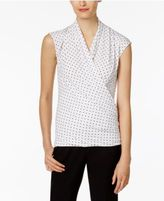 Vince Camuto Sleeveless Faux-Wrap Top