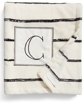 Levtex Plush Stripe Monogram Throw Blanket