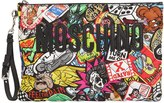 Moschino Graffiti Print Quilted Nylon Pouch