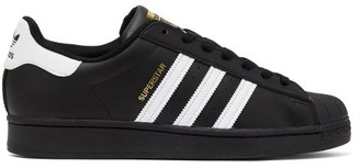 adidas Superstar Leather Trainers - Mens - Black White