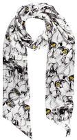 Thomas Wylde Floral Silk Scarf