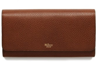Mulberry Continental Wallet Oak Natural Grain Leather