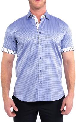 Maceoo Galileo Cross Short Sleeve Button-Up Shirt