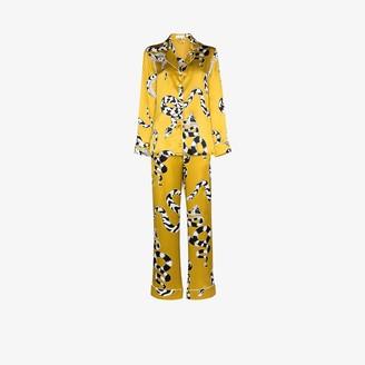 Olivia von Halle Lila Seduction snake print silk pyjamas