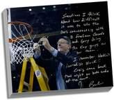 "Steiner Sports Syracuse Orange Jim Boeheim Cutting Down the Net Facsimile 22"" x 26"" Stretched Story Canvas"