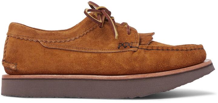 Yuketen Blucher Rocker Leather Derby Shoes