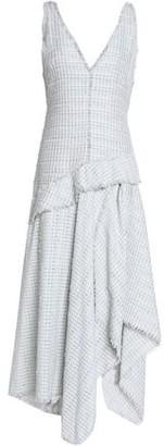 Proenza Schouler Asymmetric Fringe-trimmed Tweed Midi Dress