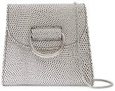 Little Liffner - D Tiny Box Lizard-effect Leather Shoulder Bag - White