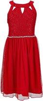 Xtraordinary Big Girls 7-16 Embellished-Waist Cutout Dress