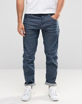 Jack and Jones Anti Fit Jeans With Engineered Detail in Washed Indigo