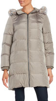 Gallery Faux Fur-Trimmed Hooded Puffer Jacket