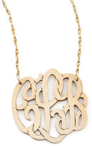 UGG Moon and Lola Small Gold-Fill Script Monogram Pendant Necklace