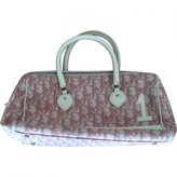 Christian Dior Pink Cloth Handbag