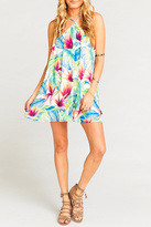 Show Me Your Mumu Floral Halter Mini Dress