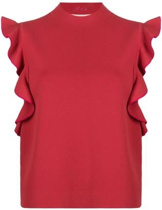 Karl Lagerfeld Paris Colour-Block Ruffle Top