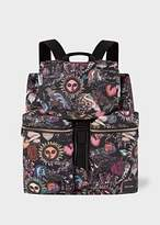 Paul Smith Men's 'Psychedelic Sun' Print Flap Canvas Backpack