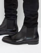 Aldo Markin Chelsea Boots In Black Leather