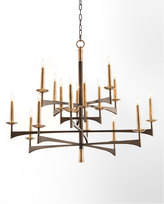 John-Richard Collection Mid-Century 16-Light Chandelier