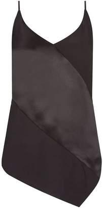 Mint Velvet Black Asymmetric Satin Cami