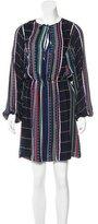 Parker Geometric Print Long Sleeve Dress w/ Tags