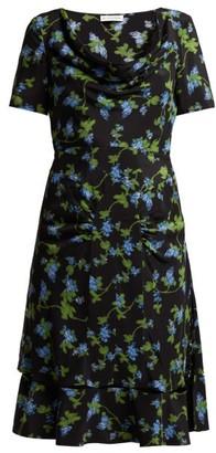 Altuzarra Lucia Floral-print Silk-crepe Dress - Womens - Black Multi