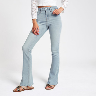 River Island Light blue high rise bootcut jeans