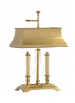 The Well Appointed House Classic Brass Desk Lamp with Shade-ON BACKORDER UNTIL APRIL 2016