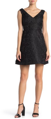 Kate Spade Dashing Beauty Floral Jacquard Fit & Flare Dress