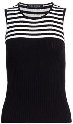Piazza Sempione Sleeveless Knit Stripe Top
