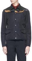 Kolor Contrast yoke coach jacket