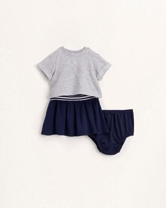 Splendid Baby Girl Mix Knit Woven Dress Set