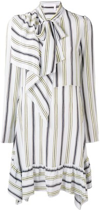 See by Chloe Striped Tie Neck Dress