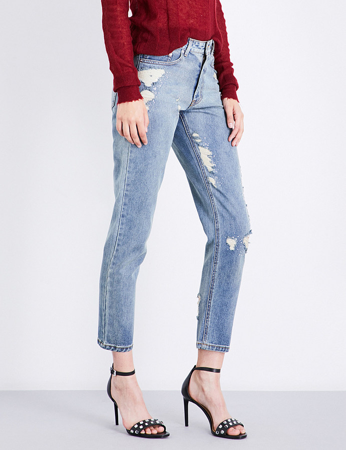 Area Beau straight boyfriend-fit high-rise jeans