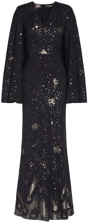 Alexander McQueen Moon & Star Cape Dress