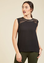 ModCloth Creative Mixer Sleeveless Top in Black in S