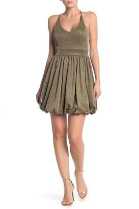 Fairy Dust Bubble Hem Mini Dress