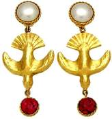 Chanel Gold Tone Metal Pearl Earring