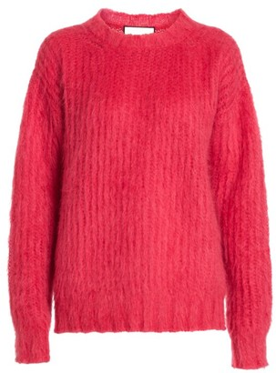 Plan C Crewneck Mohair & Wool-Blend Knit Sweater