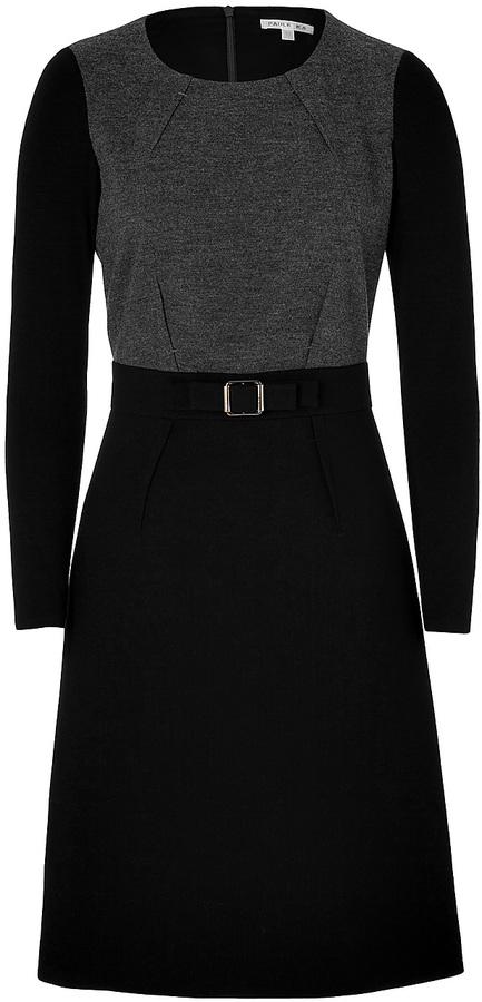 Paule Ka Mixed-Media Dress in Black