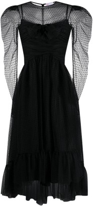RED Valentino Polka-Dot Mid-Length Dress