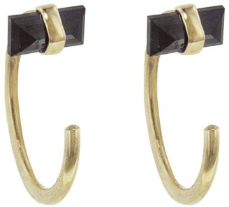 Melissa Joy Manning Black Diamond Hug Hoop Earrings