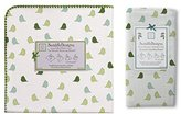 Swaddle Designs Ultimate Flannel & Marquisette Swaddle Baby Blankets, Little Chickies Green