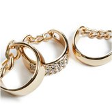 GUESS Gold-Tone Midi Ring Set