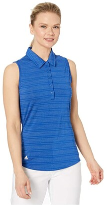 adidas Microdot Polo Sleeveless (Collegiate Royal) Women's Clothing