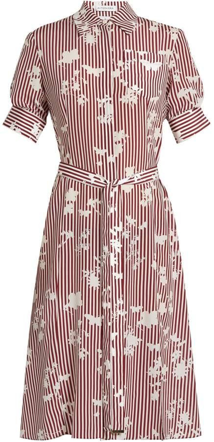 Altuzarra Kieran point-collar striped silk shirtdress