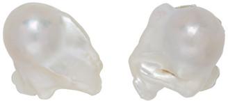 Sophie Buhai White Baroque Pearl Clip-On Earrings
